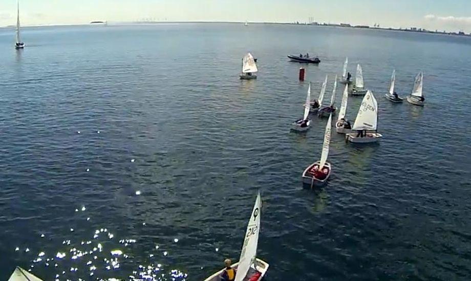 SUS Momentum Cup bruger teknologiske muligheder som Go-Pro-helikopter og Trac Trac. Foto fra video.