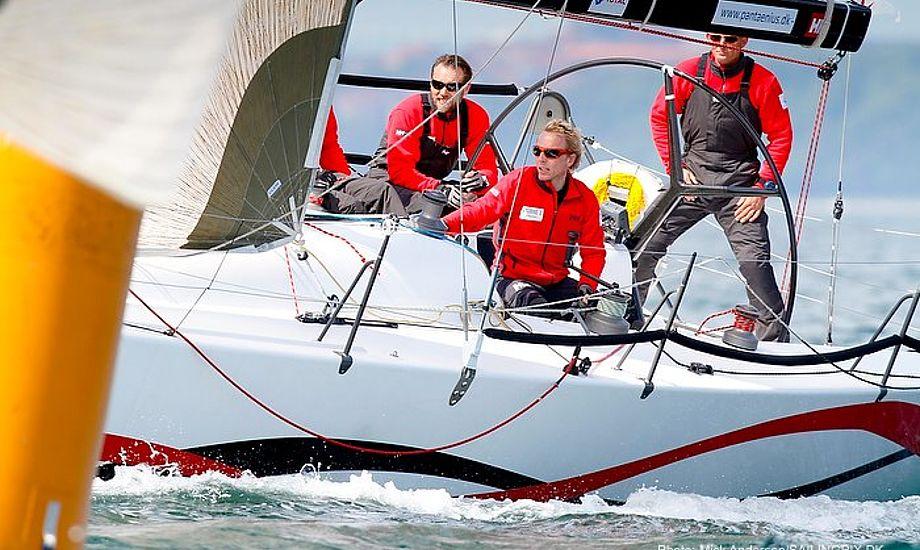 Visione 3.1-holdet ses her under Aarhus Big Boat tidligere i år. I morgen sejler holdet Race Rigtig i Rungsted. Foto: Mick Anderson/sailingpix.dk