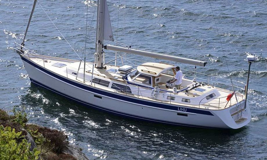 Den nye Hallberg-Rassy 48 Mk II kan ses på bådmessen i Düsseldorf, frem til 26. januar. Foto: Hallberg-Rassy