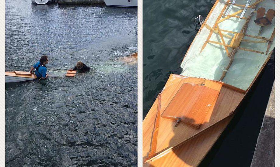 Vandski-speedbåd bragede ind i robåd, toer med styrmand: En person meget alvorligt kvæstet