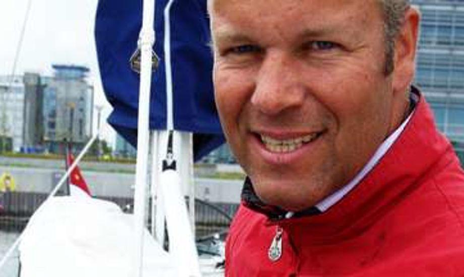 Mads Barner-Christensen på sin IMX 40 i Hellerup. Foto: Troels Lykke/minbaad.dk