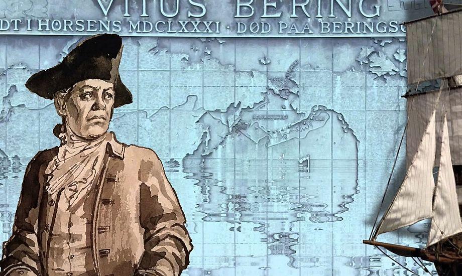 Vitus Bering, der blev født i Horsens, er blandt verdens største søfarer. Foto: YouTube