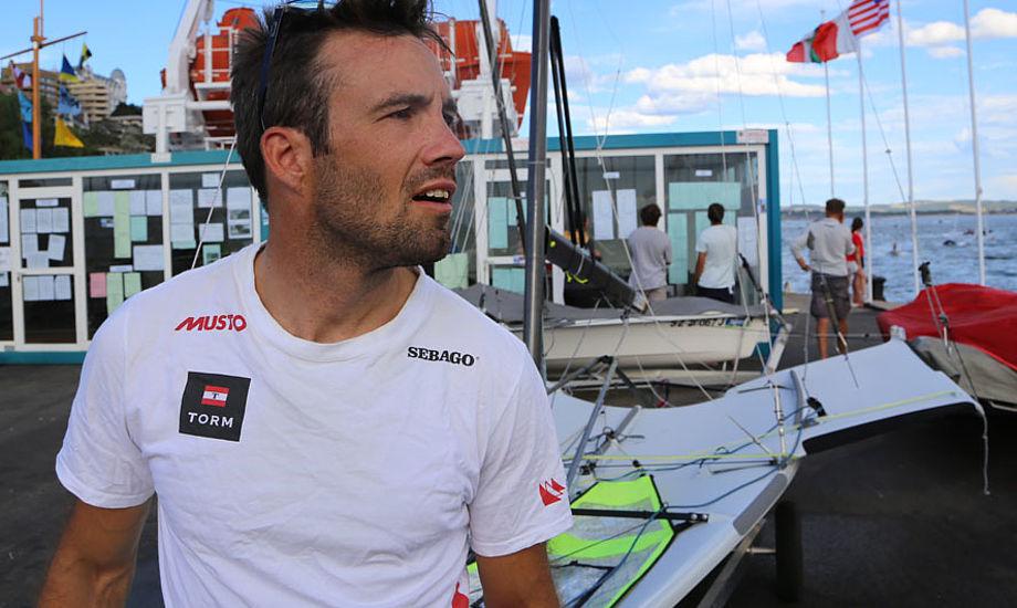 35-årige Jonas Warrer er den bedst støttede OL-sejler herhjemme, sammen med Nacra 17-sejler Allan Nørregaard. Foto: Troels Lykke