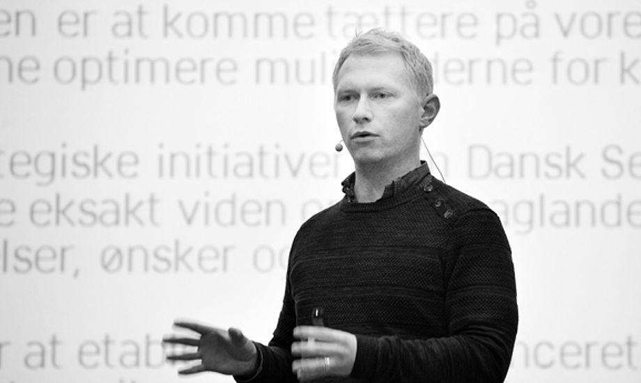 Kasper Lund Kirkegaard, Forskningsansvarlig analytiker i Danmarks Idrætsforbund, ses her på klubkonferencen 2014. Foto: Dansk Sejlunion