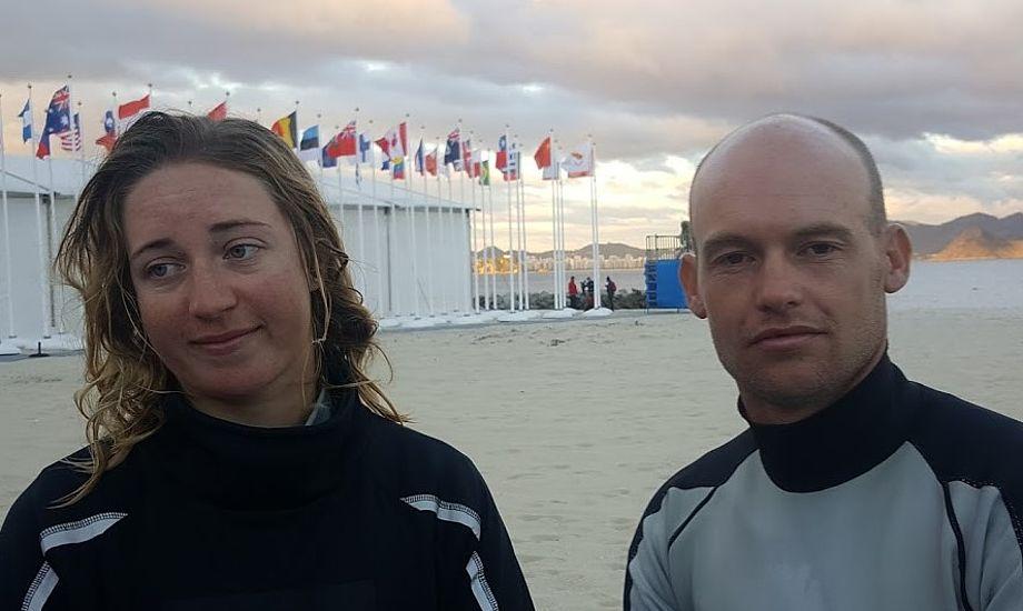 Anette Viborg og Allan Nørregaards humør er i kulkælderen i dag torsdag i Rio. Kan du se nogen smile på billedet?