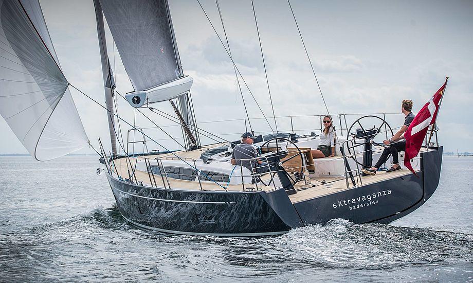 Niels Jeppesen og hans designteam i Sydengland har atter skabt flotte linjer med denne X4⁶. Foto: Nicolaj Schwaner/X-Yachts