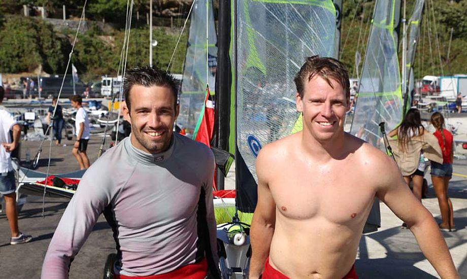 Jonas Warrer og Anders Thomsen havde et super VM i Santander, men der er et stykke op til verdensmestrene endnu. Foto: Troels Lykke