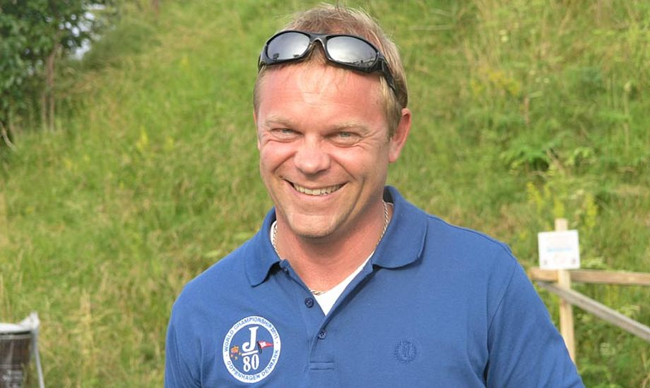 Anders Kristensen til J/80 VM i Dragør. Foto: Katrine Bertelsen