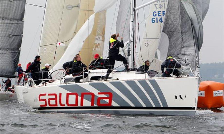 Salona 42 under mærkerunding i Flensborg.