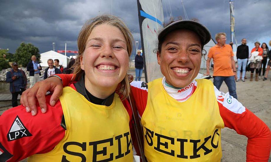 Marie og Ida er netop vej til Santander. Her foto fra U-23 VM de vandt i år på hjemmebane. Foto: Troels Lykke
