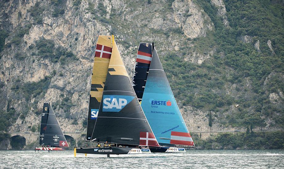 Det danske SAP-team er en del af den udfordrende Extreme Sailing Series, hvor i alt syv teams stiller til start. Foto: PR-foto