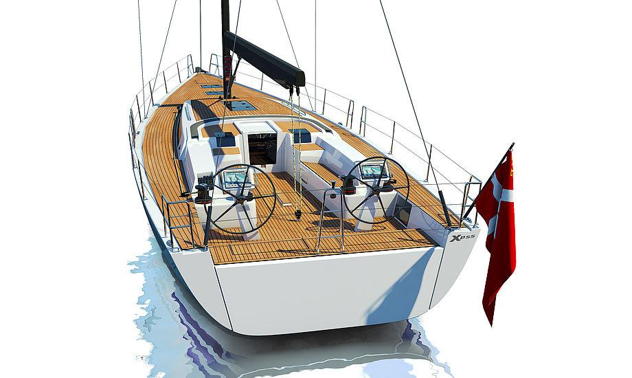 X-Yachts blev etableret i 1979 og omsætter pt. for kr. 250 mio. kroner. Her ses den nye XP 55