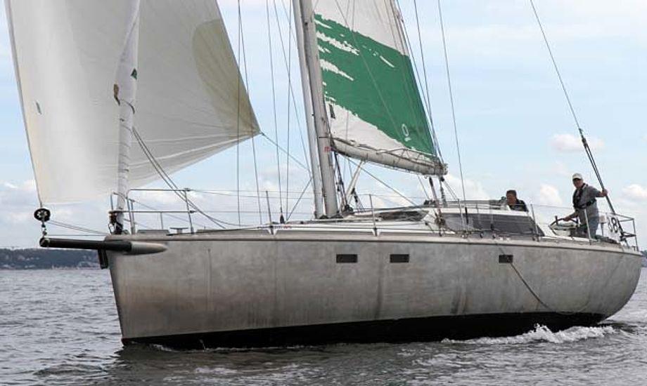2.600 timer tog det at bygge Quantumsail 45 hos Svendborg Yacht Værft A/S. Selve aluminium-materialerne koster faktisk 125.000 kr. Skroget er beklædt med 5 mm aluminiumsplader. Foto: Troels Lykke