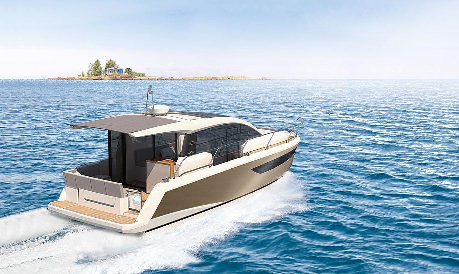 De første to både som er tegnet af Bill Dixon er Sealine S330 og Sealine C330.