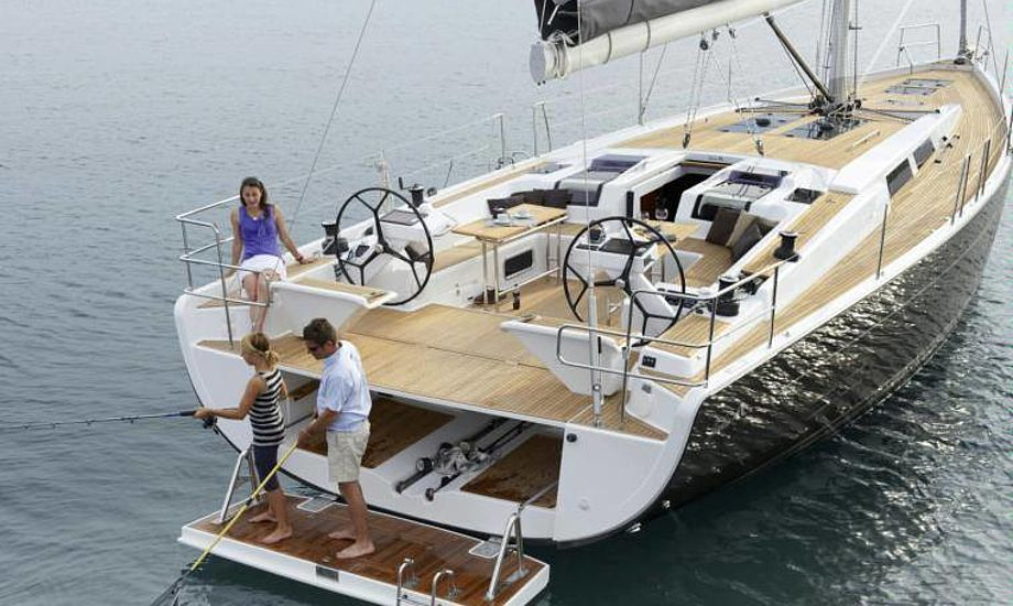 Største båd på udstillingen er en Hanse 57. PR-foto