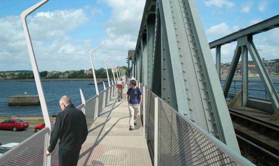 Arbejdet med Jernbanebroen ved Aalborg trækker ud. Foto: Arkivfoto