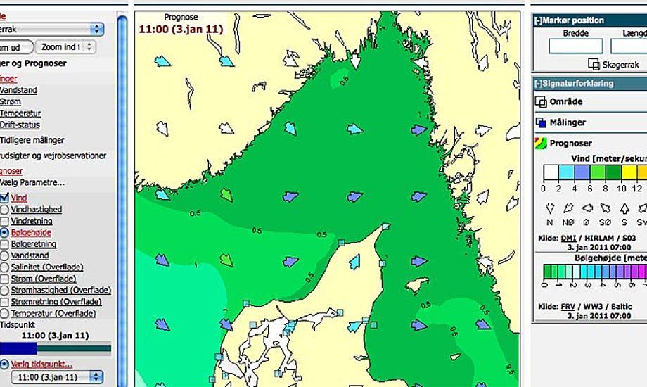 Kortet over Skagerak har fået Limfjorden med.