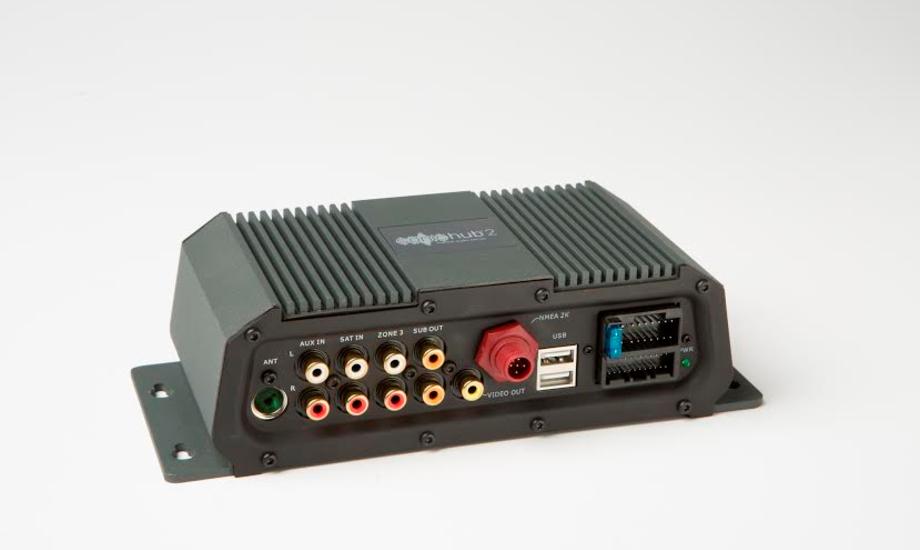SonicHub2 er det første marine audio system som er konstureret efter den nye NMEA 2000® Audio Entertainment standard.