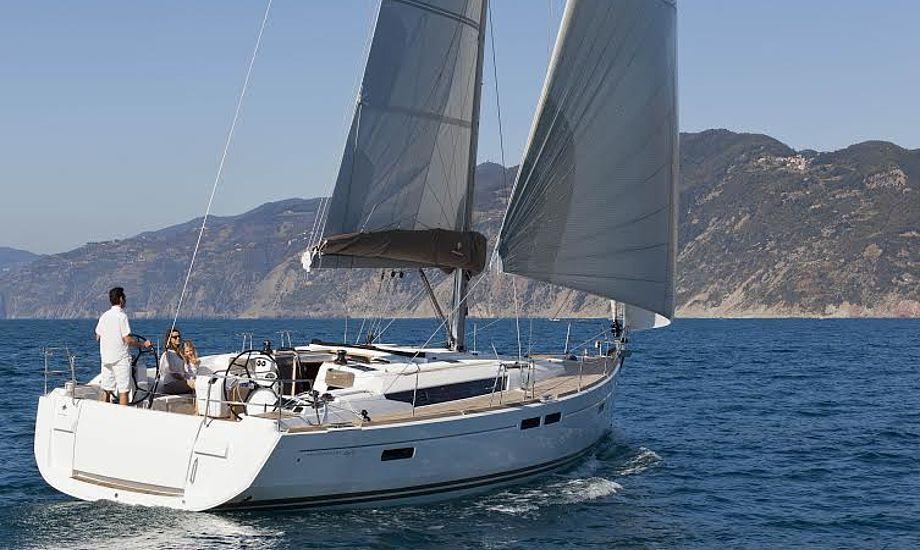 Største båd på Fredericia Boat Show bliver denne flotte Jeanneau Sun Odyssey 469, som præsenteres af Tempo Bådsalg fra Ishøj.