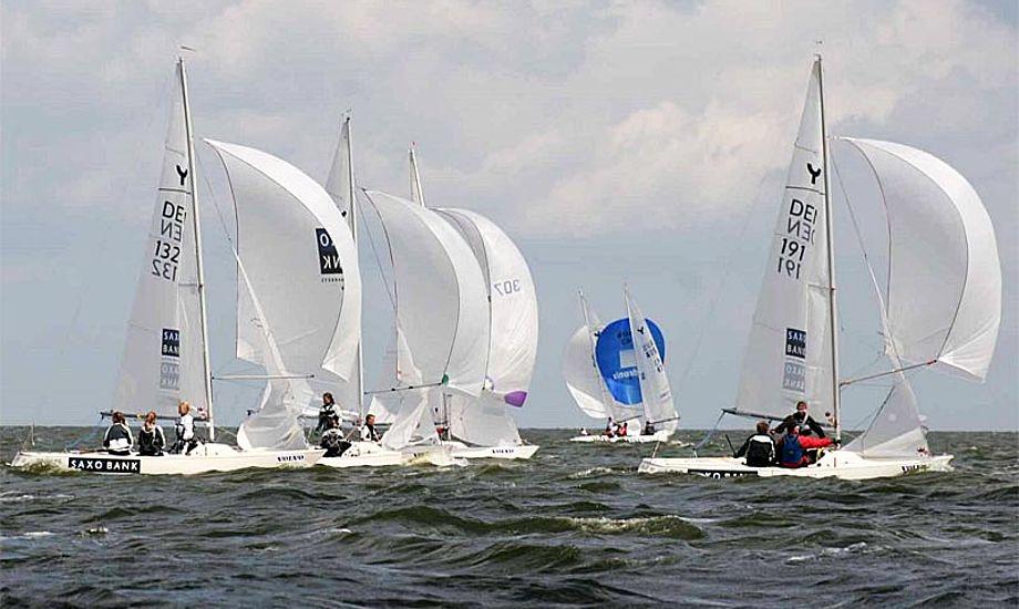 Hele 10 både har meldt deres ankomst, blandt dem nummer 1, 2 og 3 fra det netop overståede DM. Foto: Taarbæk Sejlklub