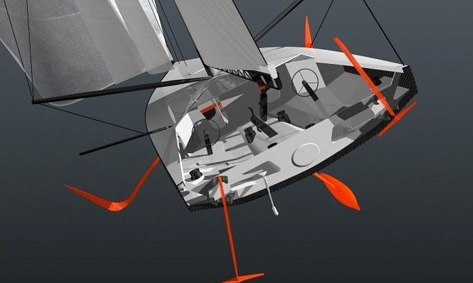 New Zealand og Italien fravalgte flerskrog til fordel for enkeltskroget båd, der kan se ud som denne, der skal sejles i den næste Volvo Ocean Race.