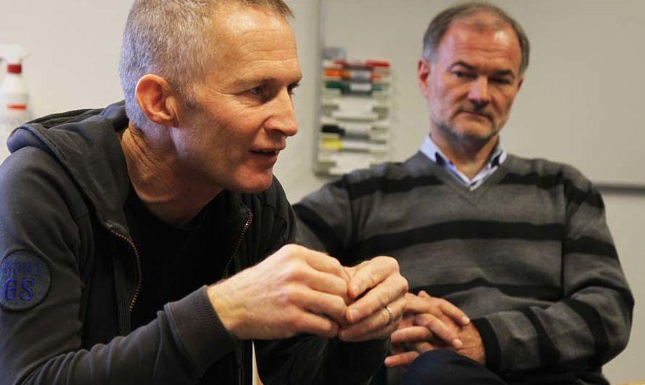 Hans Natorp, tv., arbejder nu på fuld tid for Dansk Sejlunion og vil blive kompenseret for det. Foto: Troels Lykke