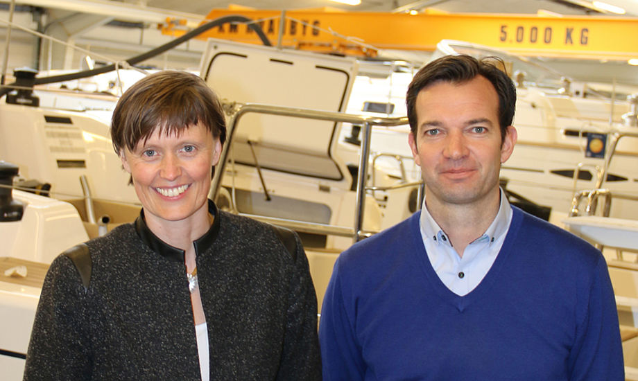 Fra venstre: Inger Borregaard Barsballe og Peter Thorup Hovgaard. Foto: X-Yachts