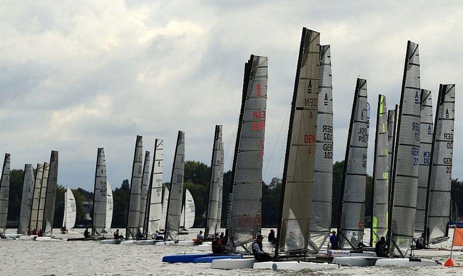 Fem danske både deltog på Steinhuder Meer. Foto: Hans-Heinrich Schmid