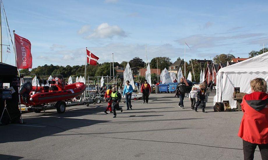 360 sejlere havde indtaget Skælskør til årets Harboe Cup. Foto: Claus Møller Christensen.
