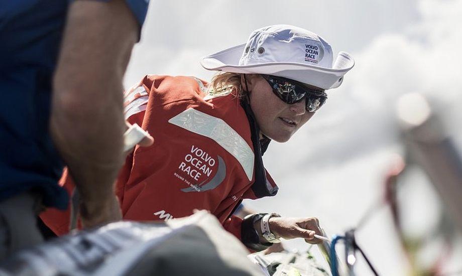 Jena Mai Hansen sejler med på de to sidste ben, der går til Gøteborg og Haag. Foto: Vestas 11th Hour Racing