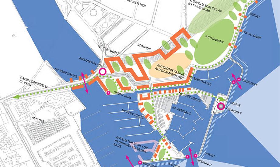 Planerne om at opføre lystbådehavnen på Prøvestenen er således ikke droppet - blot stillet midlertidigt i bero.