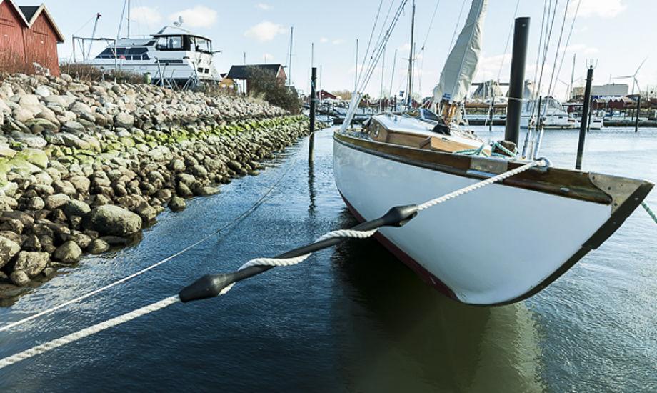 Noget af vandet røg ud af Hundige Havn. Send os gerne fotos fra din havn. Foto: Mogens Hansen