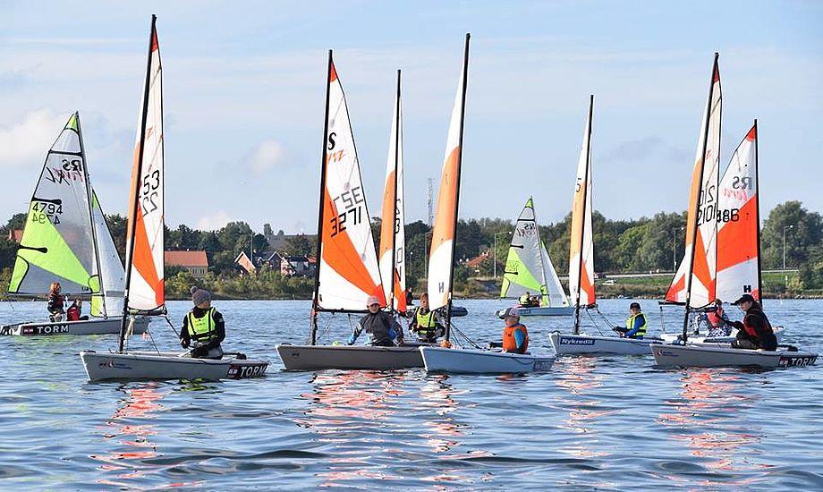 Terajoller var der også i Harboe Cup. Foto: Skælskør Amatør Sejlklub