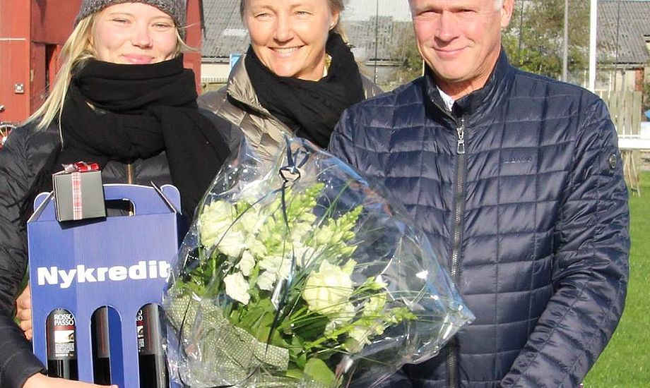 Ol bronze vinder Anne-Marie Rindom  (tv) sammen med Peter Bjerremand og Bente L. Jakobsen fra Nykredit.