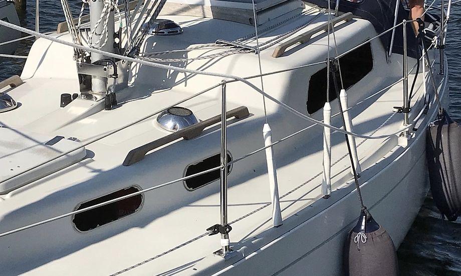 Det dyrere udstyr sad fortsat i båden efter tyveriet. Foto: Tom Andersen
