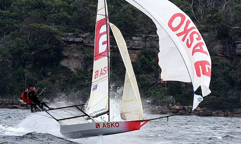 Du kan se den vilde 18-footer på Fredericia BoatShow, på den australske stand. foto: 18-footer.org
