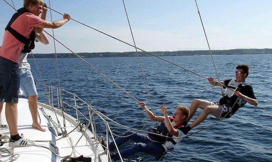 Kreativiteten er stor blandt de unge, når der sejles Uge 29 Ungdomscruise. Foto: Frida Hangel
