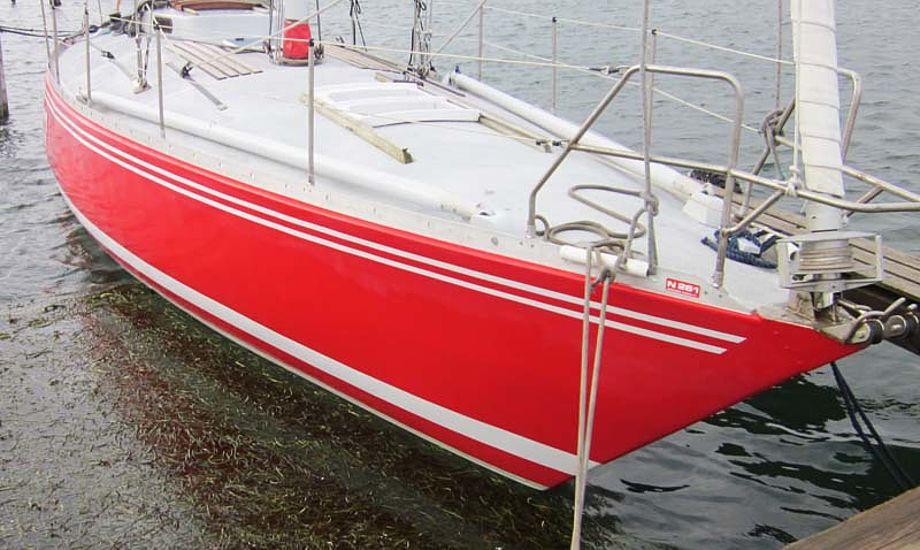 Båden ser ud til at være malet for nylig Foto: Troels Lykke