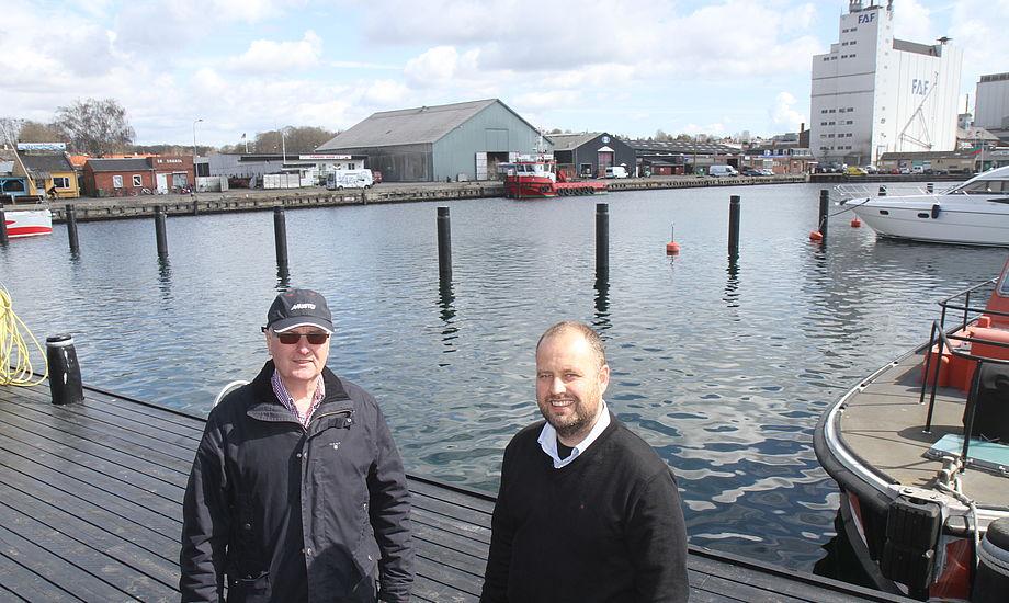 Martin Stockholm og Heine Hilbrecht, der står igen bag udstillingen, kæmper lige nu for at få flest mulige udstillere til byen. Foto: Troels Lykke