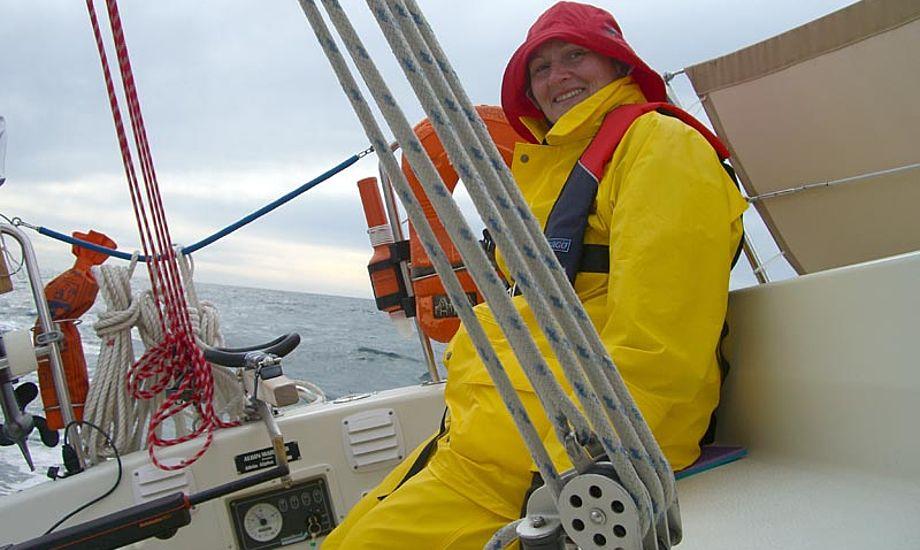 Karen på vej over Nordsøen