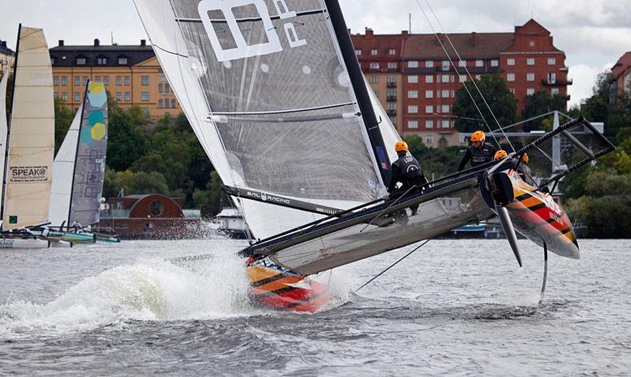 Spændende om M32-katamaranerne skal dyste i København. Godt ser det ud, her fra Stockholm i 2013. Foto: m32cup.com