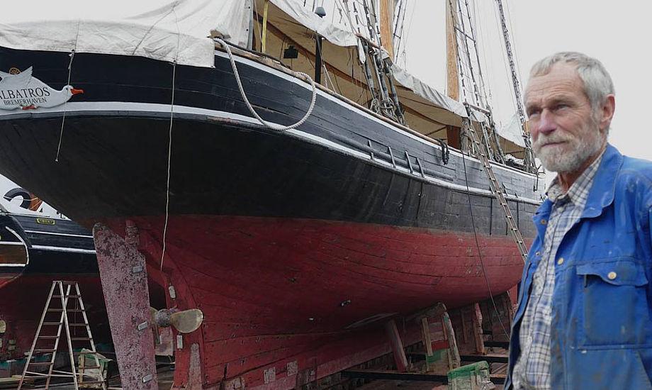 Skibsbygmester Peter Ring-Andersen: - Jeg kunen godt bruge et par skibsbyggere mere, men de er ikke til at skaffe.  Foto: Søren Stidsholt Nielsen/fyens.dk