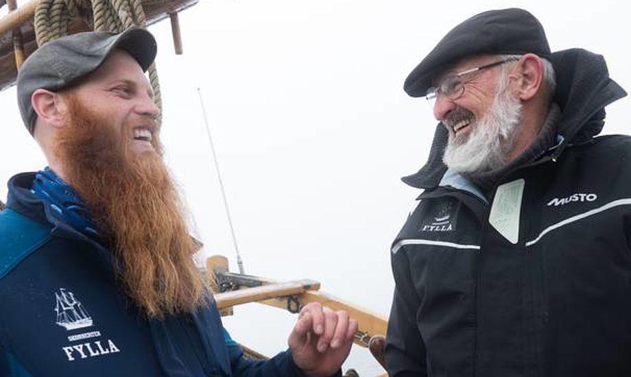 Mark Ambech fortæller at David Thomas har været en fremragende skipper og læremester. Foto: Søren Stidsholt Nielsen.