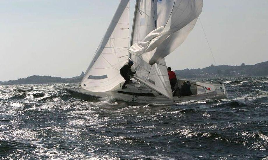 Sejlerne fik noget blandet vejr på VMs første dag i Tyskland. Foto: h-boat-class.org