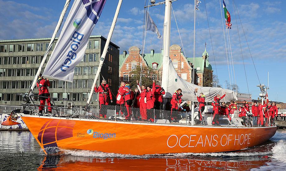 Oceans of Hope kom søndag til København efter 17 måneder på verdenshavene. Foto: Oceans of Hope