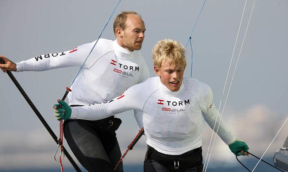 49erne Allan Nørregaard og Peter Lang er en lovende duo. Foto: Mick Anderson for Dansk Sejlunion