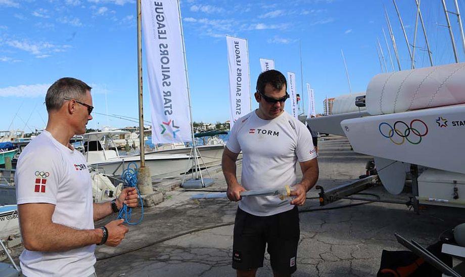 Michael Hestbæk og Claus Olesen sejler frem til på lørdag i Star Sailors League. Foto: Troels Lykke