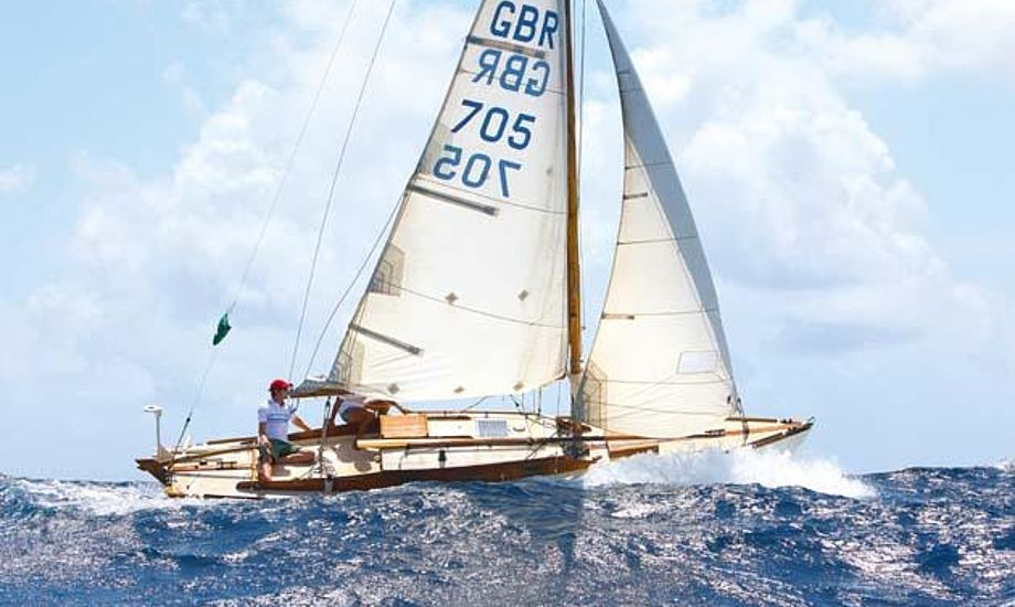 Leo Goolden brugte 20 dage på at krydste Atlanten i 24-fods Folkebåd. Foto: Yachting World