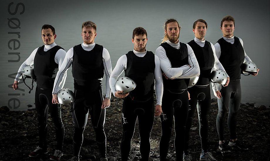 Fra venstre: Anders Kjær Kronborg, Stig Steinfurth, Mads Emil Lübeck, Daniel Bjørnholt, Nicolaj Bjørnholt og Christopher Falholt. Foto: Søren Wiegand