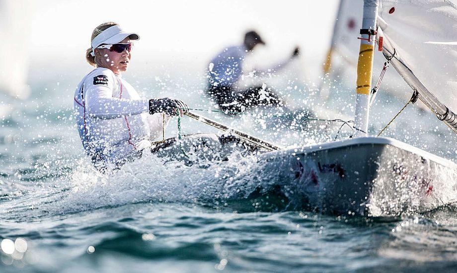 En 16. og 12. plads sender Anne-Marie Rindom ned som samlet 5'er. Foto: Dansk Sejlunion